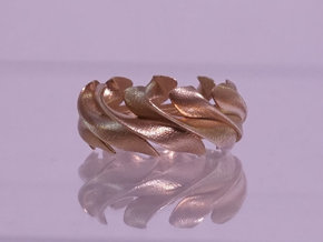 Sunwaves Handmade Ring / Bronze Brass or Silver Ri in Fine Detail Polished Silver