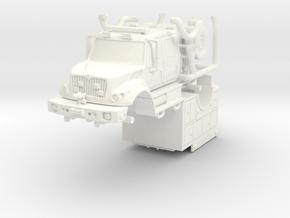 1/87 KME/International Brush Fire Truck FDNY in White Processed Versatile Plastic