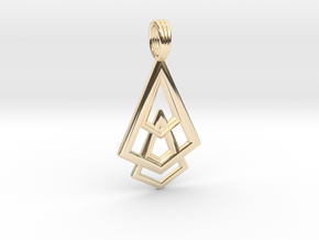DELTOHEDRON 2D in 14K Yellow Gold