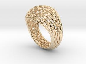 Hexagonal ring size 9 in 14K Yellow Gold