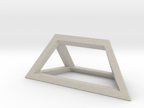 Material Sample - 'Impossible' Pyramid Puzzle Piec in Natural Sandstone