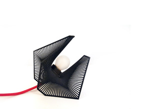A lamp - Enneper in Black Natural Versatile Plastic