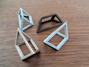 Material Sample - 'Impossible' Pyramid Puzzle Piec in Fine Detail Polished Silver