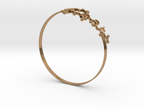 Oxytocin Bracelet 75mm Embossed in Polished Brass