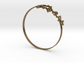 Oxytocin Bracelet 75mm Embossed in Polished Bronze