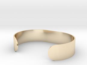 Custom Bracelet 40mm X 30mm Solid in 14k Gold Plated Brass