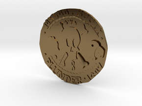 Monkey Island 3 | Verb Coin in Polished Bronze