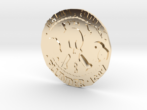 Monkey Island 3 | Verb Coin in 14k Gold Plated Brass