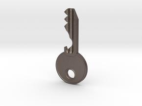 Bottle Opener Keys in Polished Bronzed Silver Steel
