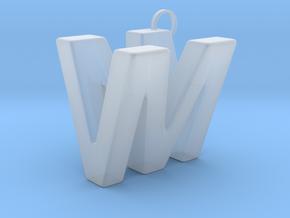 V&M 3D Ambigram in Smooth Fine Detail Plastic
