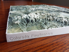 Colorado Fourteeners with holes, 12'' in Full Color Sandstone