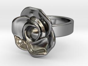 BlakOpal Rose Ring Size 8.5 in Fine Detail Polished Silver
