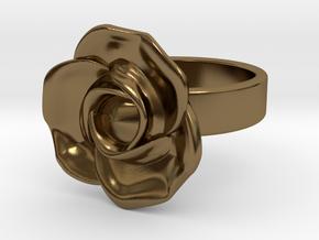 BlakOpal Rose Ring Size 8.5 in Polished Bronze