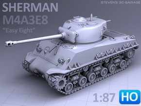 Sherman M4A3E8 Tank - (1:87 HO) in Smooth Fine Detail Plastic