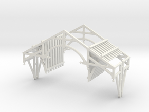 S Scale QN Brackets And Gable Detail in White Natural Versatile Plastic