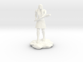 Amazon Warrior with Spear in White Processed Versatile Plastic
