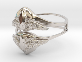 Samons ring (size = USA 5.5)  in Rhodium Plated Brass