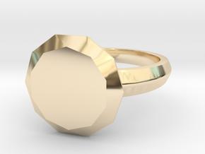 My best Friend Diamond in 14k Gold Plated Brass