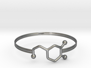 Dopamine Bracelet - Medium - 70mm diameter in Fine Detail Polished Silver
