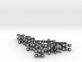 Oxytocin Earrings - Planar Version in Fine Detail Polished Silver