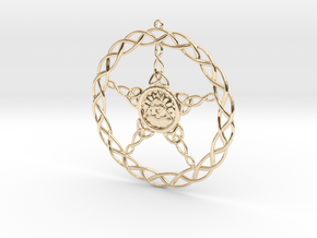 Triqueta Pentacle Pendant in 14K Yellow Gold