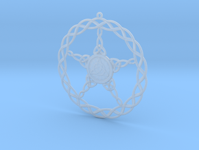 Triqueta Pentacle Pendant in Smooth Fine Detail Plastic