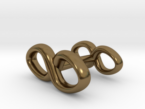 Infinity Symbol Cufflink in Polished Bronze
