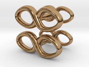 Cufflinks Infinity Symbol 2x in Polished Brass