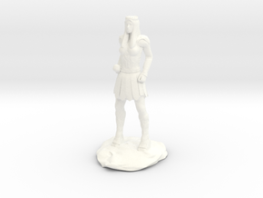 Amazon Warrior Queen With Sword in White Processed Versatile Plastic