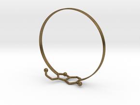 Serotonin Bracelet 65 Mm Embossed in Natural Bronze