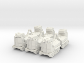 31China Tankette 6mm X6 in White Natural Versatile Plastic