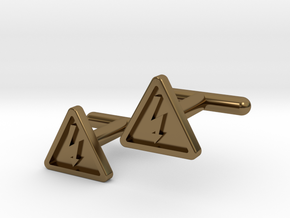 Electricity Cufflinks in Polished Bronze