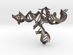 CRISPR Guide RNA with Target (mini scale) in Polished Bronzed Silver Steel