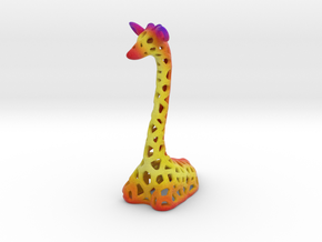 Sunset Giraffe in Full Color Sandstone