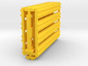 Double Rail Guardrail System 1-87 HO Scale in Yellow Processed Versatile Plastic