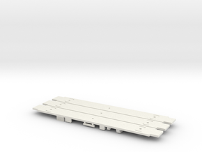 Amtrak Horizon Coach Underframe X 3 in White Natural Versatile Plastic