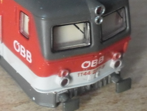 Eckige Puffer für ÖBB 1044/1144 in  1/160 in Frosted Ultra Detail