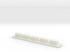 4 -Buttons Pad in White Natural Versatile Plastic