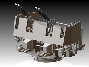 Quad Bofors Shielded - Elevated 1/144 in Smooth Fine Detail Plastic