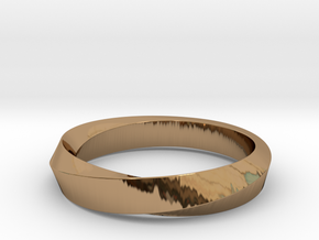 iRiffle Mobius Narrow Ring I (Size 10) in Polished Brass