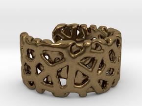Bracelet Ø69 mm/Ø 2.71 inch in Natural Bronze