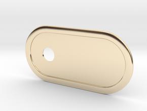 Custom Key Holder Nameplate Small in 14k Gold Plated Brass