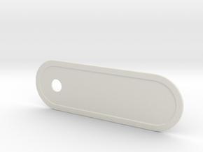 Custom Key Holder Nameplate Large in White Natural Versatile Plastic