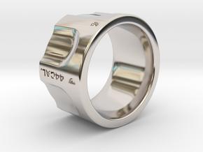 Revolver fashion Ring Size 10 in Rhodium Plated Brass
