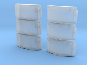 1:87 / H0 Clip-On Reefer Container Set1 in Smoothest Fine Detail Plastic