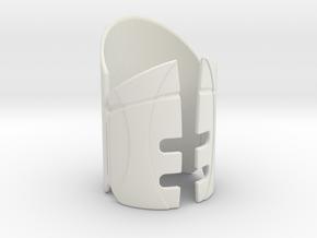 Emitter Shroud - Sentinel in White Natural Versatile Plastic