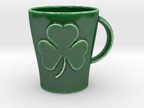 Customizable Shamrock Mug (large) in Gloss Oribe Green Porcelain