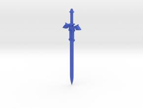 Link's Hylian Sword (Legend of Zelda) in Blue Processed Versatile Plastic
