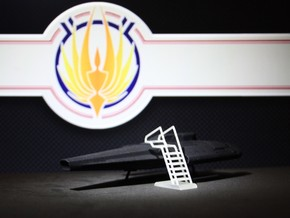 Access Ladder: Blackbird, Viper, StealthStar (BSG) in Smooth Fine Detail Plastic: 1:72