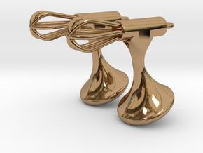 Whisk Cufflinks in Polished Brass